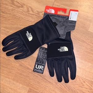 NWT The North Face Sierra ETip Gloves, Blue, L